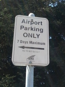 vta sjc airport sign