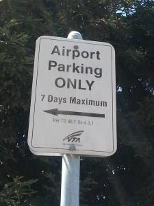 vta sjc airport sign