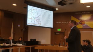 vta staff member presentation at Santa Clara City Council Feb. 7.