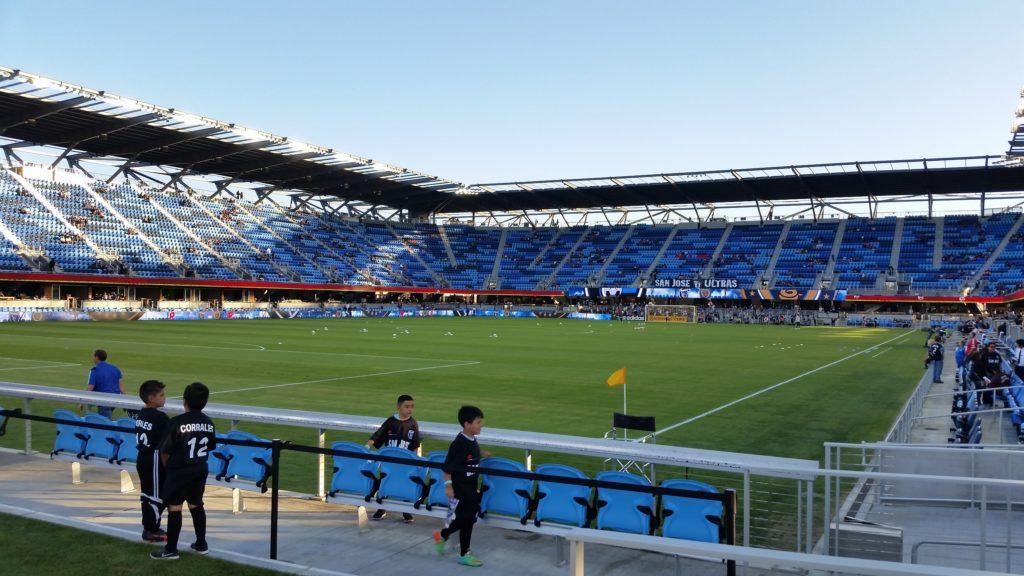 San Jose Earthquakes soccer pitch.